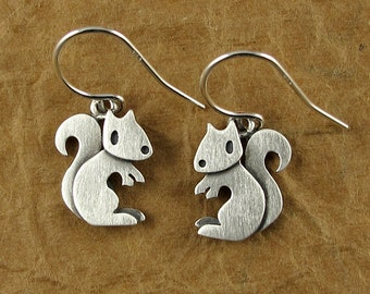 Tiny squirrel earrings