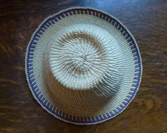 Small Hand Woven Sun Hat/ Garden Hat From Guatemala- In Perfect Shape!