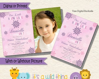Girl Snowflake Onederland Invitation • Winter Onderland • Winter Wonderland Invitations • Snowflake Wonderland • Winter 1st Birthday Ideas