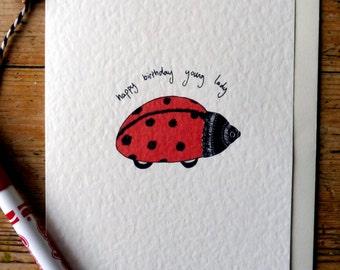 Happy Birthday young lady card/girls birthday card