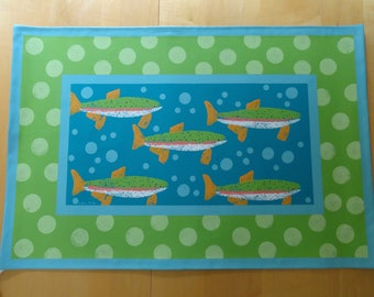 Swimming Trout Floorcloth-2017 Edition