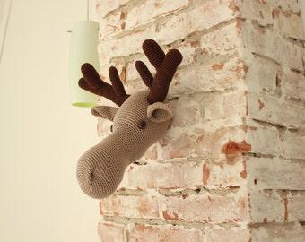 DIY PDF Pattern moose head - crochet pattern