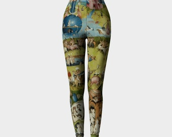 the garden of earthly delights - hieronymus bosch - printed leggings