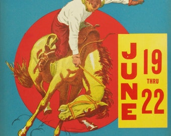 Salinas Rodeo,  Vintage Original Poster ca. 1930 and Rodeo Scarf