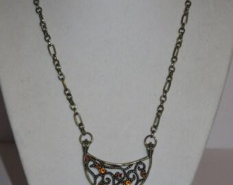 Vintage Antique Gold Pendant Necklace