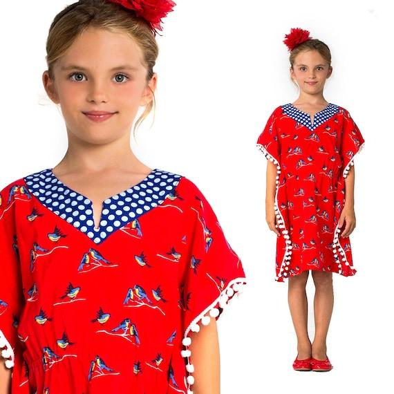 Girls Kaftan Pattern PDF Dress Pattern Childrens Sewing