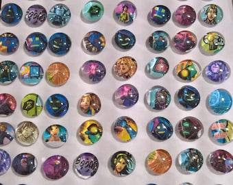 Qonqr Glass Bead Magnet Set of 8, Mobile Game Merch, Video Game Merch, Glass Magnet, Qonqr Faceless, Qonqr Legion, Qonqr Swarm