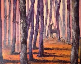 Autumnal nature. Acrylic on canvas 30 X 30