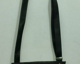 Bogolan black leather shoulder bag
