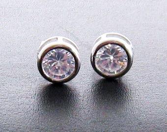 Cubic Zirconia Earrings, CZ Earrings, Bridal Studs, Cubic Zirconia Stud Earrings, Wedding Studs, Bridal Earrings, Faux Diamond Earrings