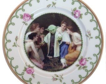"""Yoda and the Nymphs Portrait Plate 6.15"""""""