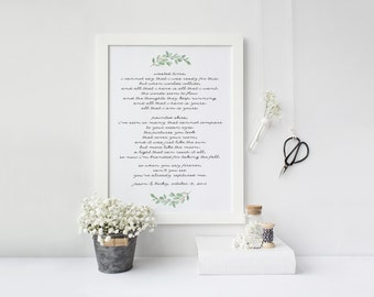 First dance song etsy first dance song printable wedding song lyrics watercolor greenery wedding date decor stopboris Gallery