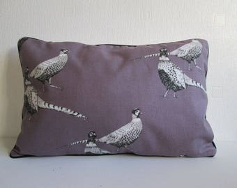 Purple Pheasants   Cushion