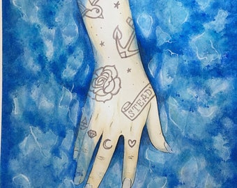 "Original Watercolor Painting ""Submerge"""