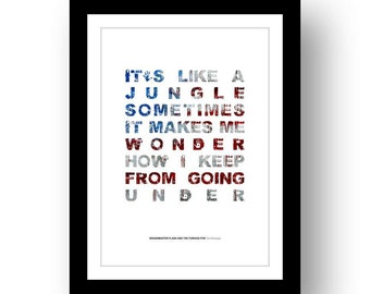 GRANDMASTER FLASH - The Message 2  - typography poster art print limited edition song lyrics quote