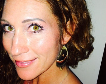 PEI Earrings: Real Cecropia moth wings! Jewelry