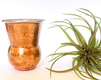 Vintage Copper Moscow Mule Mug /  Vintage Copper Mug /Hammered Copper Mug / vintage Coffee Mugs / Moscow Mule / Moscow Mule Brass cup