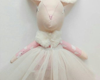 Animal doll deer ballerina
