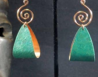 Verdegris Patina Earrings