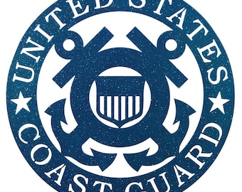 Hand Made Armed Services US Coast Guard Blue Scenic Art Wall Design *NEW*