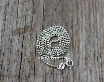 16 inch Sterling Silver Ball Chain