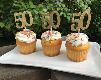 Age cupcake topper Etsy