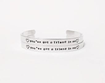 Personalized Friendship Bracelet Set of 2+ // Friendship Jewelry + Best Friend Bracelet + Coordinate Bracelet + Custom Hand Stamped + Disney