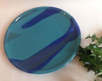 Ceramic Plate / Blue / Handmade Pottery