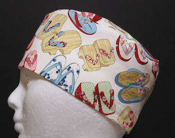 Scrub Hat, Surgical Cap, Chemo Hat Flip Flops, Sandals
