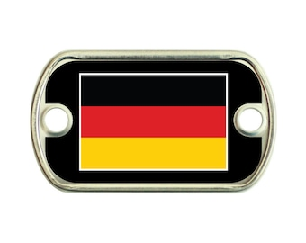 Germany Flag 2 Holes Stainless Steel Mini Dog Tag For Paracord Bracelets