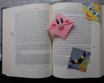Laminated Super Smash Bros Corner Bookmarks: Kirby, Dedede, MetaKnight