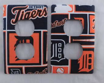 Detroit Tigers Baseball Light Switch Plate Outlet Plug Cover Custom Wall Plate Rocker Switch Double Triple