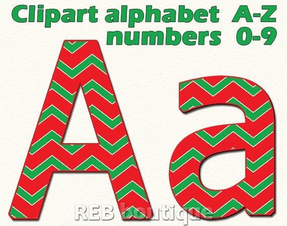 christmas clipart alphabet chevron clip art alphabet digital rh etsystudio com alphabet clipart letters free alphabet clipart letters black and white