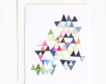 Triangle Constellation - A2 Greeting Card