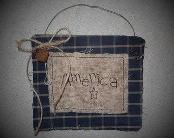 Primitive Cupboard Tuck~Hanger~Accent~Homespun~Americana~Aged~