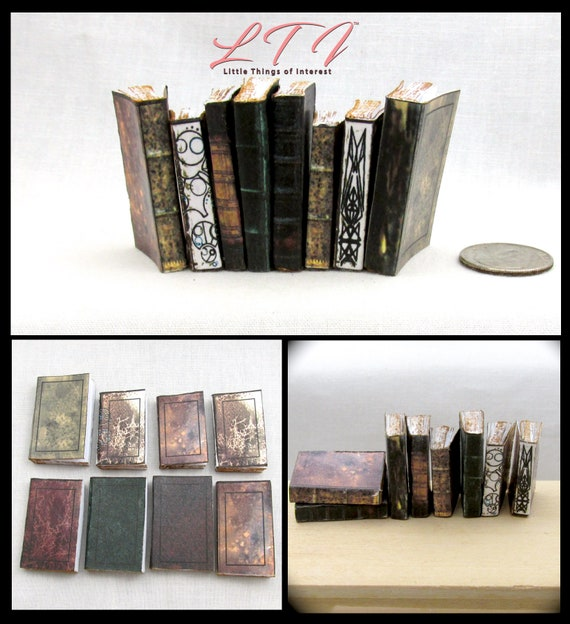 1/6 Scale ANCIENT JEDI TEXT Books Set of 8 Miniature Prop Faux Books The Last Jedi, Return of the Jedi, Star Wars Phicen 1/6