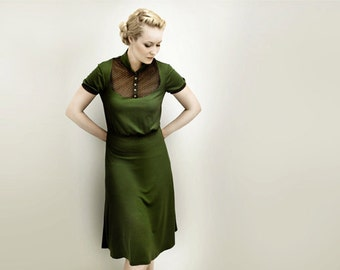 FEMKIT olive jersey dress M.I.R.A