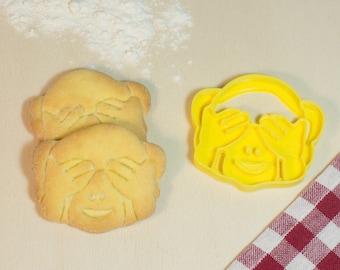 Cookie cutter Cookies Emoji monkey can't wait-Emoji Monkeys Cookie Cutter