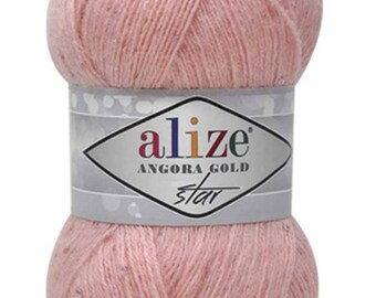 Angora Gold Star Alize Blend wool Mohair Acrylic yarn Fine yarn Knitting yarn Hand knit yarn Soft yarn Spring yarn Winter yarn Crochet yarn