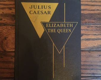 Vintage 1954 Julius Caesar Elizabeth the Queen Book