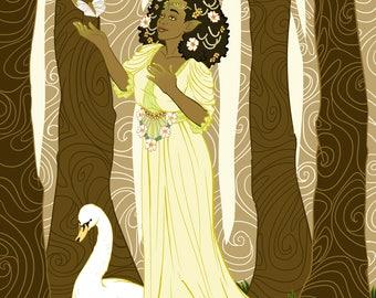 7x10 Fairy Queen Print
