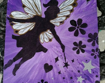 Purple fairy painting