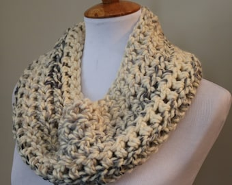 Neutral Cowl | Cowl Scarf | Dark Blue Ombre