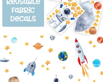 Space wall decal/ Astronaut wall decal/ Space wall decals/ Rocket ship decor/ Planet decor/ Kids space decor/ Outer space decal/ Space decal