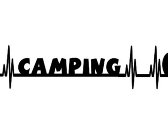 Campfire Travel Trailer Camping Lifeline Decal