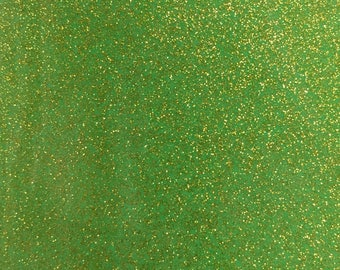 Kiwi Lime Green Glitter Sparkle Vinyl [[by the half yard]]