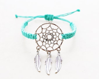 Dream Catcher Bracelet - Hemp Bracelet - Hemp Jewelry