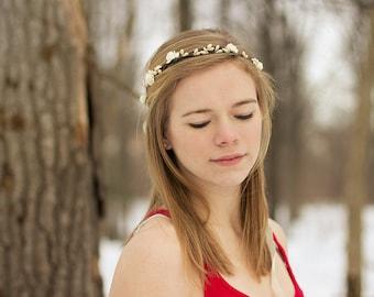Rustic Bridal Headpiece, Bohemian. Flower Crown, Floral Crown, floral, Bridal, spring, summer, rustic crown, wedding floral crown