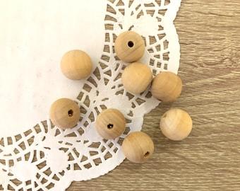 20 x Wooden Beads-Round Wood beads