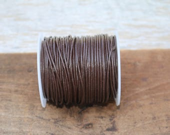 1mm Chocolate Brown Leather Cord